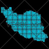 دانلود وکتور نقشه ایران به صورت نقطه نقطه