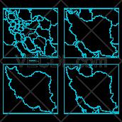 دانلود وکتور نقشه ایران کامل و به تفکیک استان ها