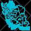 دانلود وکتور نقشه ایران کامل با اسم استان ها