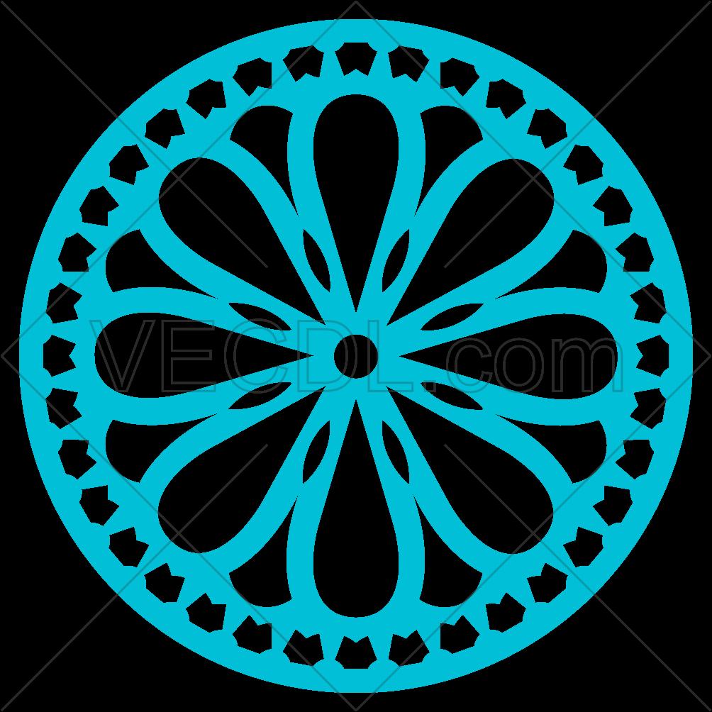 دانلود وکتور طرح دایره ای مناسب حک و برش لیزر