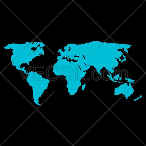 دانلود وکتور نقشه جهان